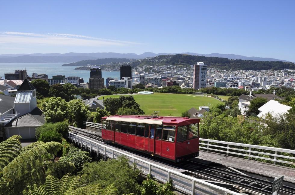 Cityscape, Streetcar, Wellington and the Wairarapa, New Zealand