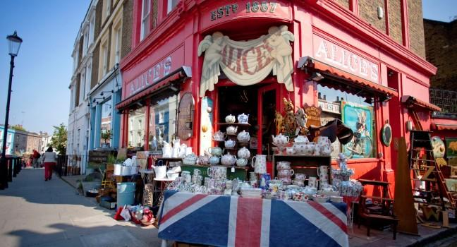 Portobello Road Market, Notting Hill and Bayswater, London, England.