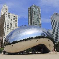 Cloud Gate, Millennium Park, Chicago, Illinois, USA