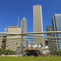 Jay Pritzker Pavilion, Millenium Park, Chicago, Illinois, USA