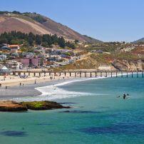 Pier, Coastline,  Avila Beach, Santa Barbara and the Central Coast, California, USA