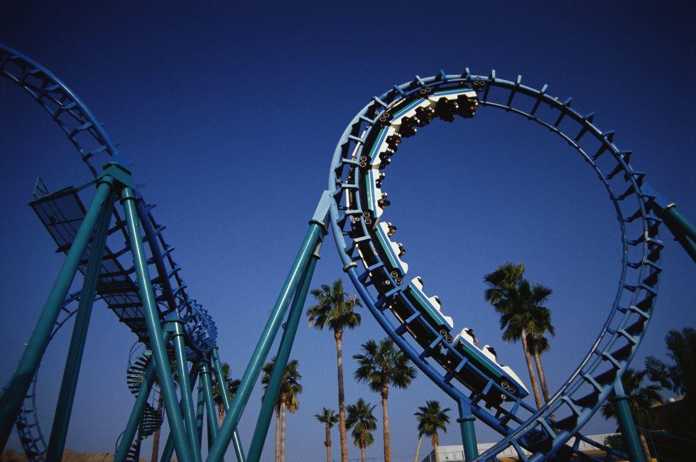 Roller Coaster, Montezuma's Revenge., Knott's Berry Farm, Buena Park, California