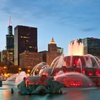 Buckingham Fountain, Grant Park, Chicago, Illinois, USA