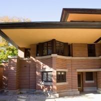 Entrance, Robie House, Chicago, Illinois, USA
