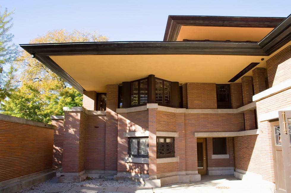 Entrance, Robie House, Chicago, Illinois, USA
