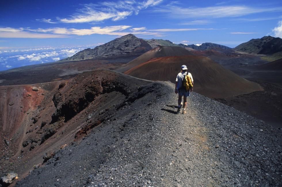 Backpacker, Maui, Hawaii, USA