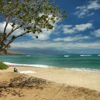Beach, Puamana Beach, West Maui, Maui, Hawaii, USA
