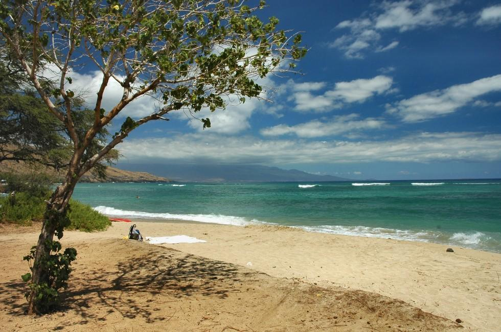 Beach, Puamana Beach, West Maui, Maui, Hawaii, USA