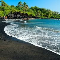 Beach, Waianapanapa State Park, Maui, Hawaii, USA