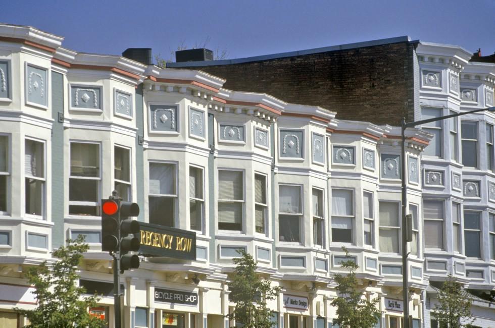 Houses, Shops, Georgetown, Washington, D.C., USA