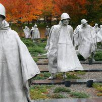 Korean War Veterans Memorial, The Mall, Washington, D.C., USA.