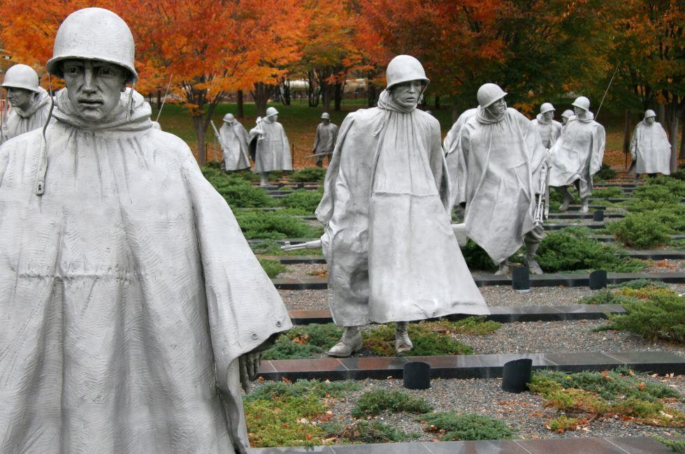 Korean War Veterans Memorial, The Mall, Washington, D.C., USA.
