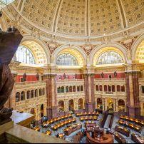 Main Hall, Library of Congress, Capitol Hill, Washington, D.C., USA