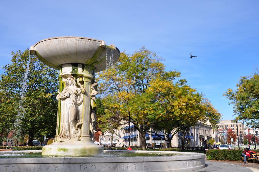 Fountain, Dupont Circle, Washington, D.C., USA