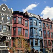 Houses, Adams Morgan, Washington, D.C., USA