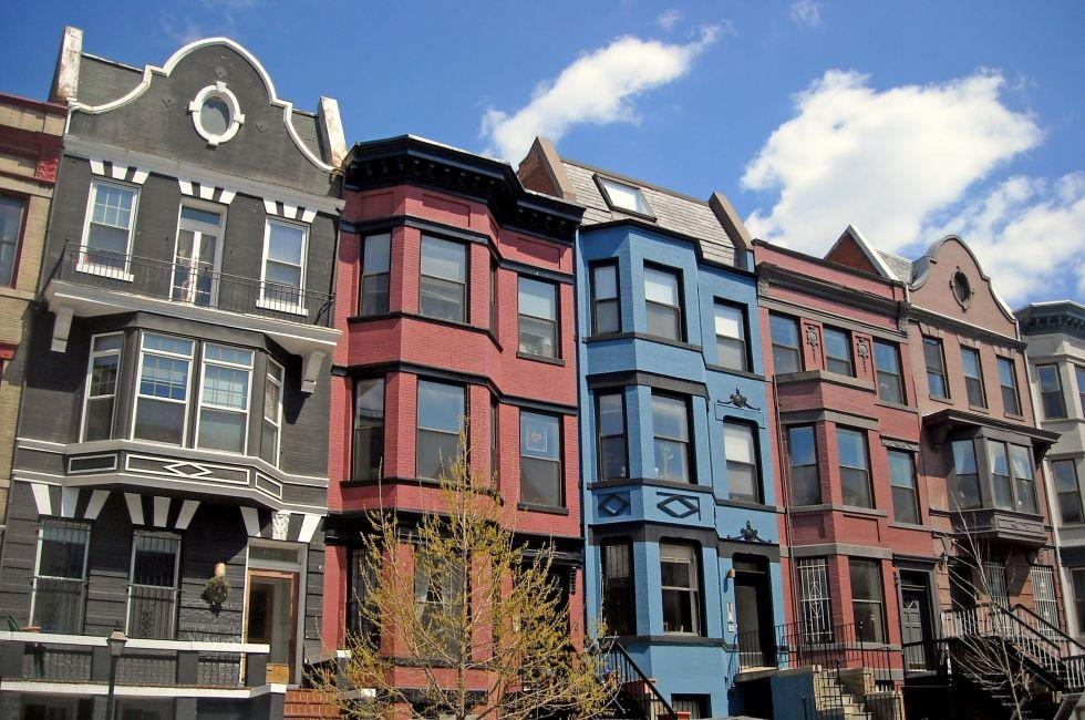 Houses, Adams Morgan, Washington, D.C., USA