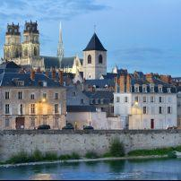 Cathedral, Waterfront, Loire River, Orleans, The Loire Valley, France