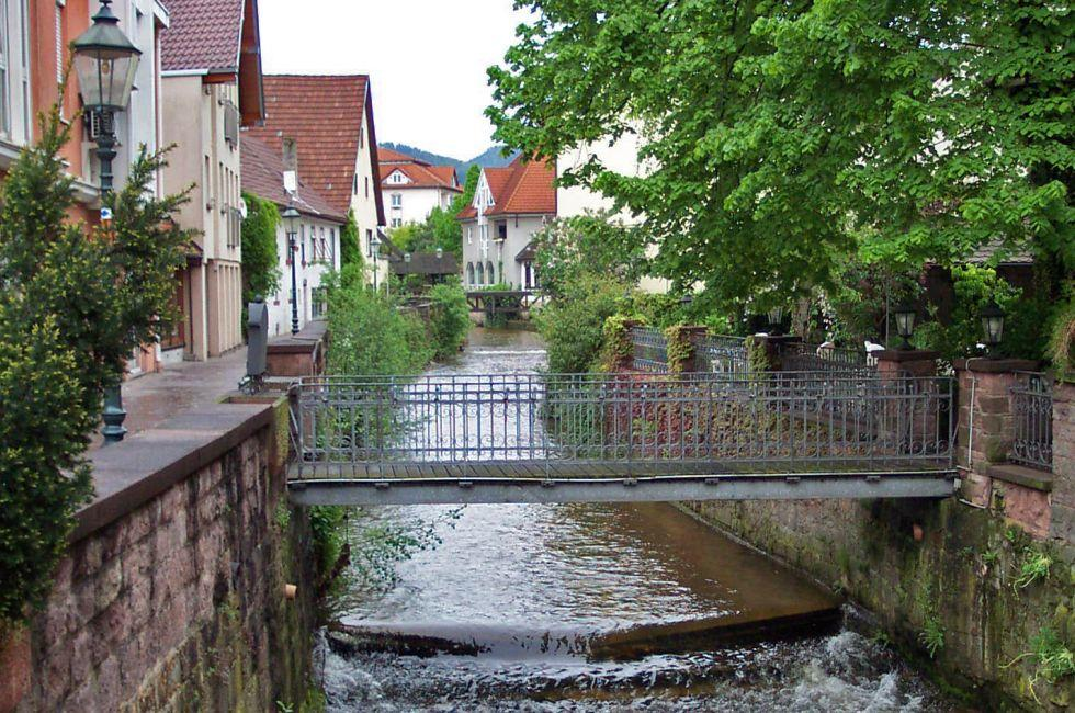Canal, Bridge, Street, Buhl, The Black Forest, Germany