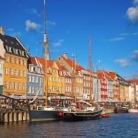 Waterfront, Nyhavn district, Copenhagen, Denmark