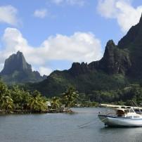 Boat, Cooks Bay, Moua Puta, Moorea, French Polynesia