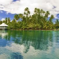 House, Lagoon, Huahine, French Polynesia