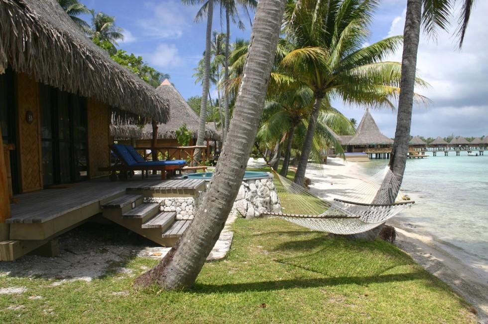 Hotel, Beach, Rangiroa, Tuamotu Archipelago, French Polynesia, Australia and the Pacific