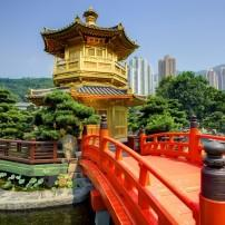 Golden Pavilion, Chi Lin Nunnery, Hong Kong, China