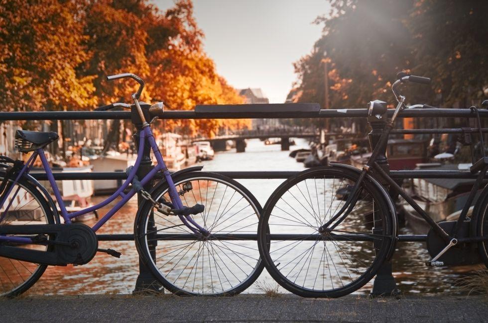 Bicycles, Bridge, Jordaan, Amsterdam, Holland