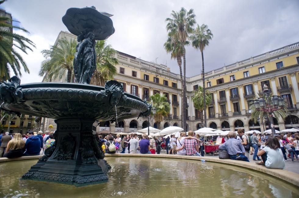 Fountain, Placa Reial, Barcelona
