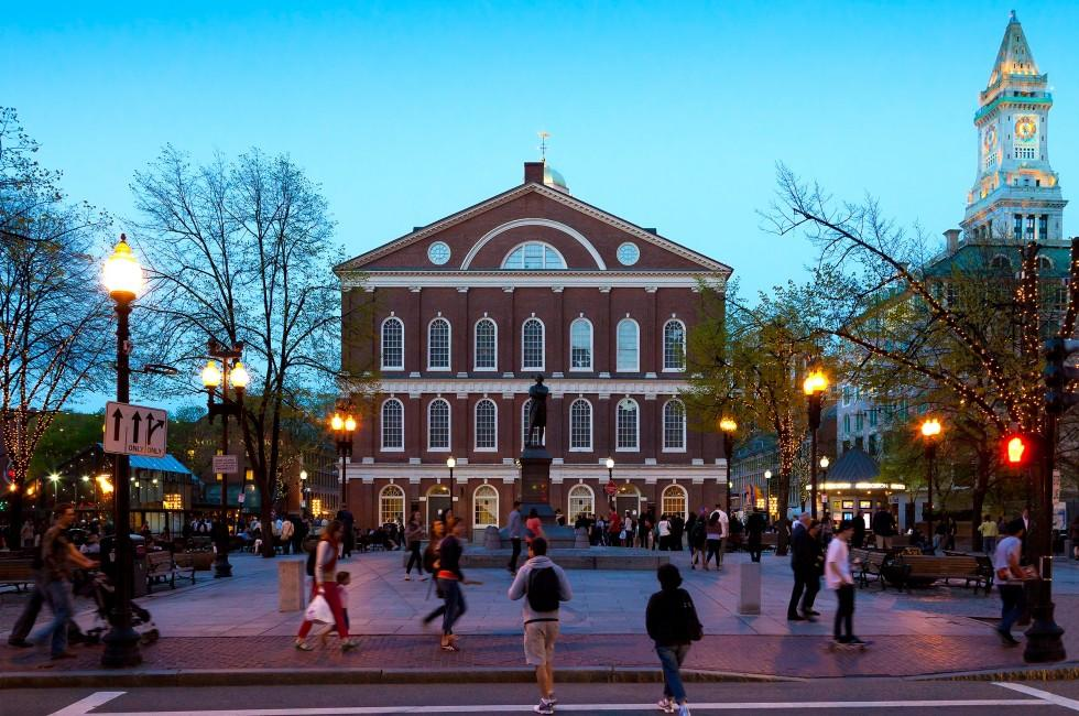 Faneuil Hall, Government Center and the North End, Boston, Massachusetts, USA