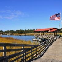Fishing Dock, Marsh, Mount Pleasant and Vicinity, Charleston, South Carolina, USA