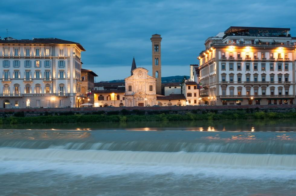 Buildings, River Arno, Florence, Italy