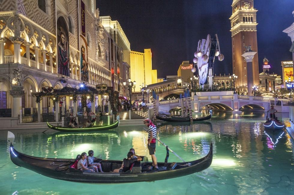 Gondola, The Venetian Resort Hotel & Casino, North Strip, Las Vegas, Nevada, USA