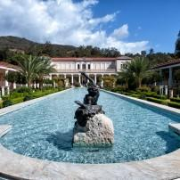 Fountain, Getty Villa, Los Angeles, California, USA