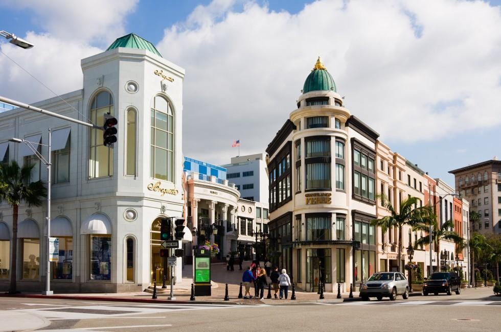 Shops, Rodeo Drive, Beverly Hills, Los Angeles, California, USA,