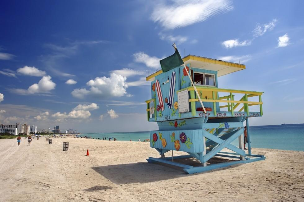 Lifeguard Chair, South Beach, Miami, Florida, USA
