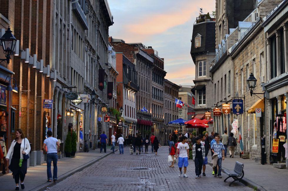 City Street, Montreal, Quebec, Canada