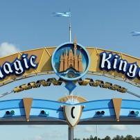 Sign, Magic Kingdom, Walt Disney World Orlando, Florida, USA