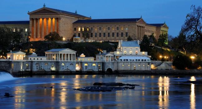 Dusk, Philadelphia Museum of Art, Philadelphia, Pennsylvania, USA