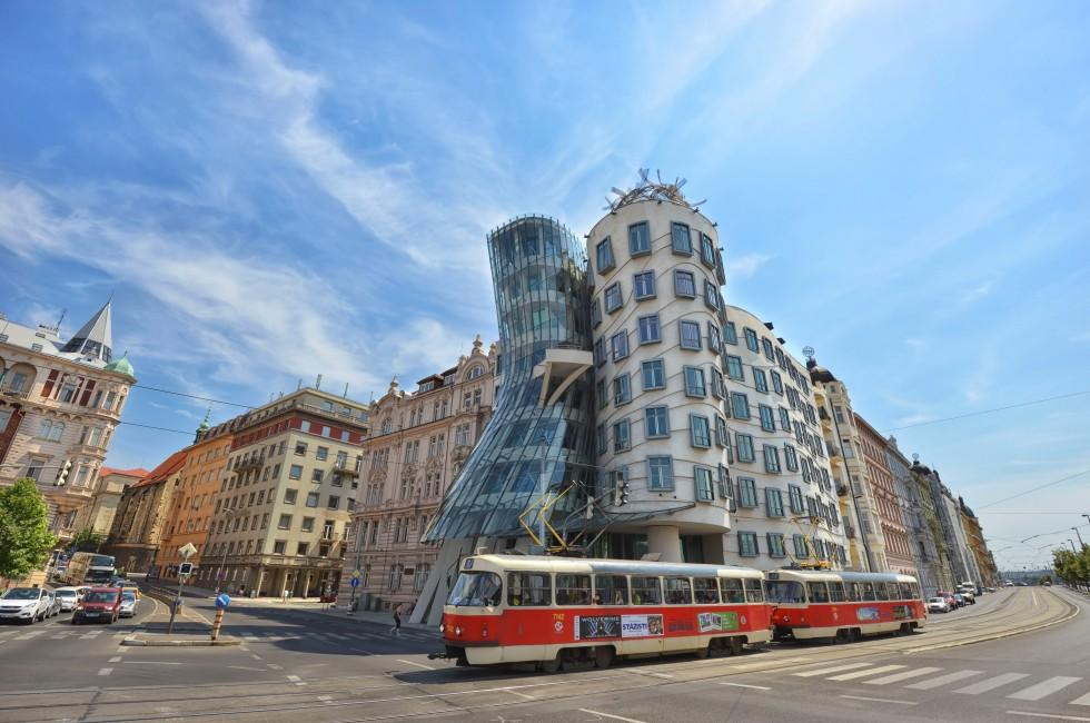 Building, Dancing House, Tančící dům, Prague, Czech Republic