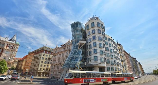 Building, Dancing House, Tančící dům, Prague, Czech Republic