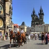 Carriage, Street, Old Town, Stare Mesto, Prague, Czech Republic