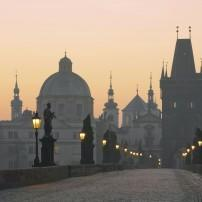 Dawn, Charles Bridge, Prague, Czech Republic