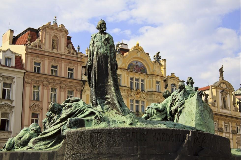 Jan Hus Monument, Old Town Square, Prague, Czech Republic