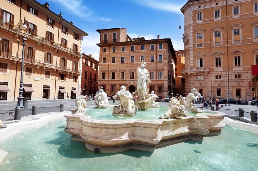 Fountain Del Moro, Navona and Campo, Rome, Italy