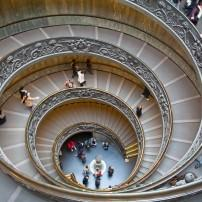 Staircase, Musei Vaticani, Rome, Italy