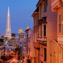 Cityscape, Nob Hill and Russian Hill, San Francisco, California, USA