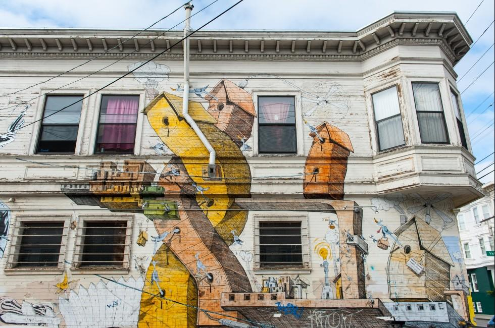 Mural, Mission District, San Francisco, California, USA