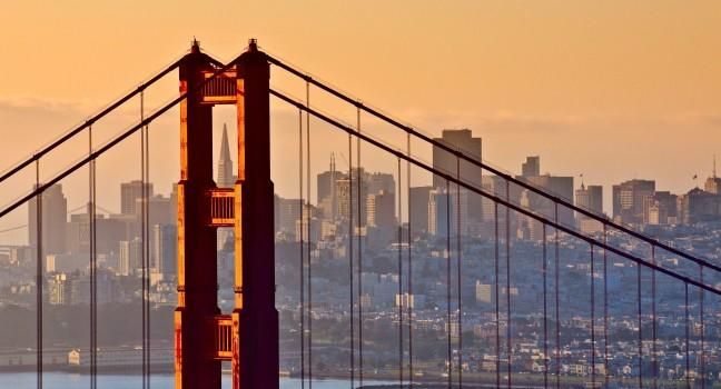 Tower, Golden Gate Bridge, San Francisco, California, USA