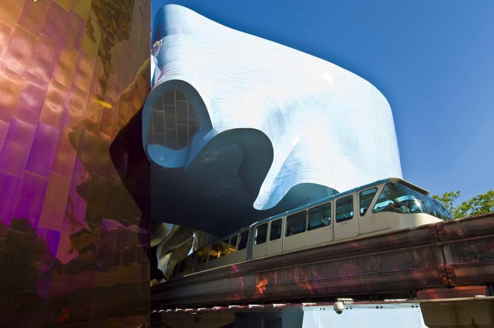 Monorail, EMP Museum, Seattle, Washington, USA